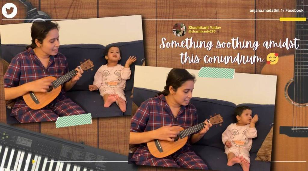 Adorable video of a little girl's song party with mother