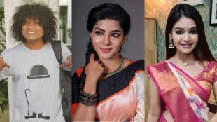 vijay tv, cook with comali, cook with comali fame pugazh, விஜய் டிவி, குக் வித் கோமாளி, புகழ், பவித்ரா லட்சுமி, தர்ஷா குப்தா, வைரல் வீடியோ, புகழ் பவித்ரா தர்ஷா குப்தா லைவ் வீடியோ, actress pavithra lakshmi, dharsha gupta, pugazh pavithra lakshmi dharsha gupta live video, viral video