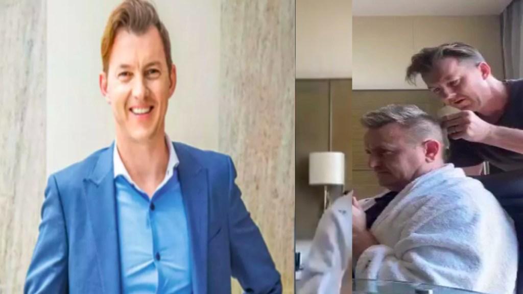 IPL 2021 Tamil News: Brett Lee Becomes Hairdresser to Scott Styris