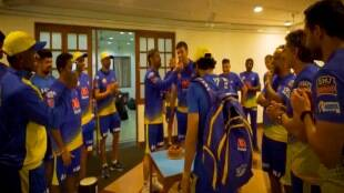 IPL 2021 Cricket news in tamil Coach Stephen Fleming Celebrates his Birthday; MS Dhoni And CSK Teammates applauds
