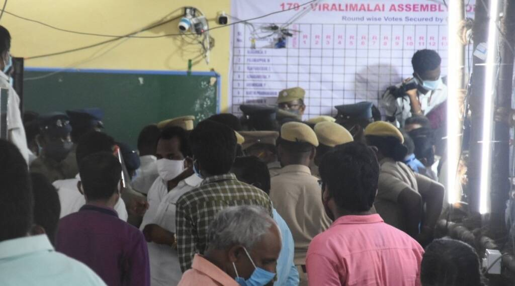 Viralimalai Constituency fight between ADMK DMK candidates