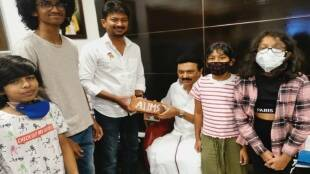 Tamilnadu assembly election 2021: Udhay Stalin gives gift of AIIMS bricks to DMK chief M K Stalin