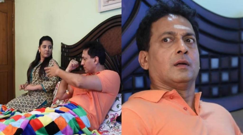 vijay tv, baakiyalakshmi serial, baakiyalakshmi serial today episode, baakiyalakshmi serial today episode story, விஜய் டிவி, பாக்யலட்சுமி, பாக்யலட்சுமி சீரியல் இன்றைய எபிசோடு, கோபி, ஜுரம் வந்ததாக நடிக்கும் கோபி, ராதிகா, Gopi acting as suffering fever, baakiyalakshmi, gopi, radhika, mayu