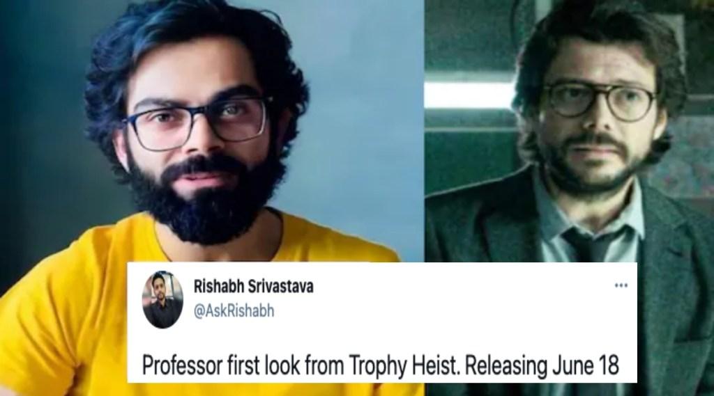 Virat kohli viral photos Tamil News: Virat Kohli's look in Money Heist professor goes viral in social