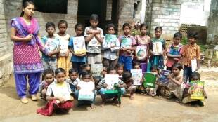 First graduate of Chinnampathy tribal village in Coimbatore conducts offline classes for children