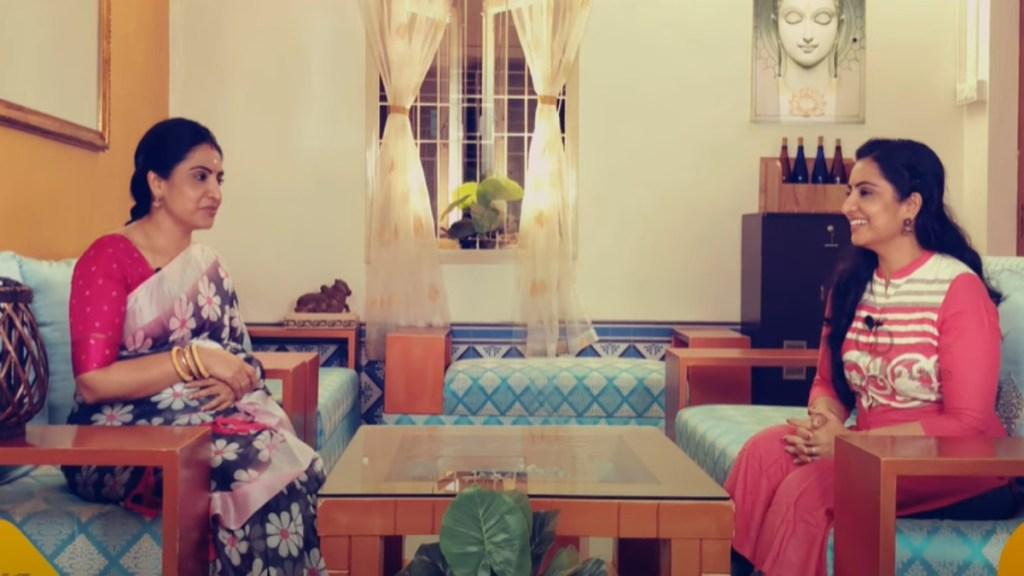 Pandian Stores Dhanam meets Sujitha Dhanush Youtube Channel Tamil