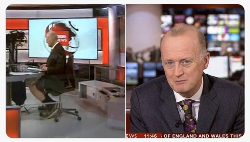 bbc news anchor wears shorts viral video, Shaun Ley,
