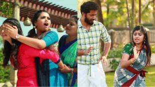 barathi kannamma, raja rani 2, barathi kannamma raja rani 2 serials mega sangamam, விஜய் டிவி பாரதி கண்ணம்மா, ராஜா ராணி 2 சீரியல், மெகா சங்கமம், வெண்பா கையைக் கடித்த பார்வதி, அர்ச்சனா செந்தில் குத்து டான்ஸ், barathi kannamma raja rani 2 serials update, Paravathy bites Venba hand, Archana Sendhil mass dance, vijay tv serials