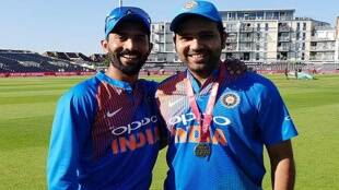 Cricket news in tamil: Rohit Sharma's first-ever international fifty was with my bat says wicketkeeper Dinesh Karthik