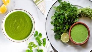 chutney recipe in tamil: how to make coriander chutney in tamil