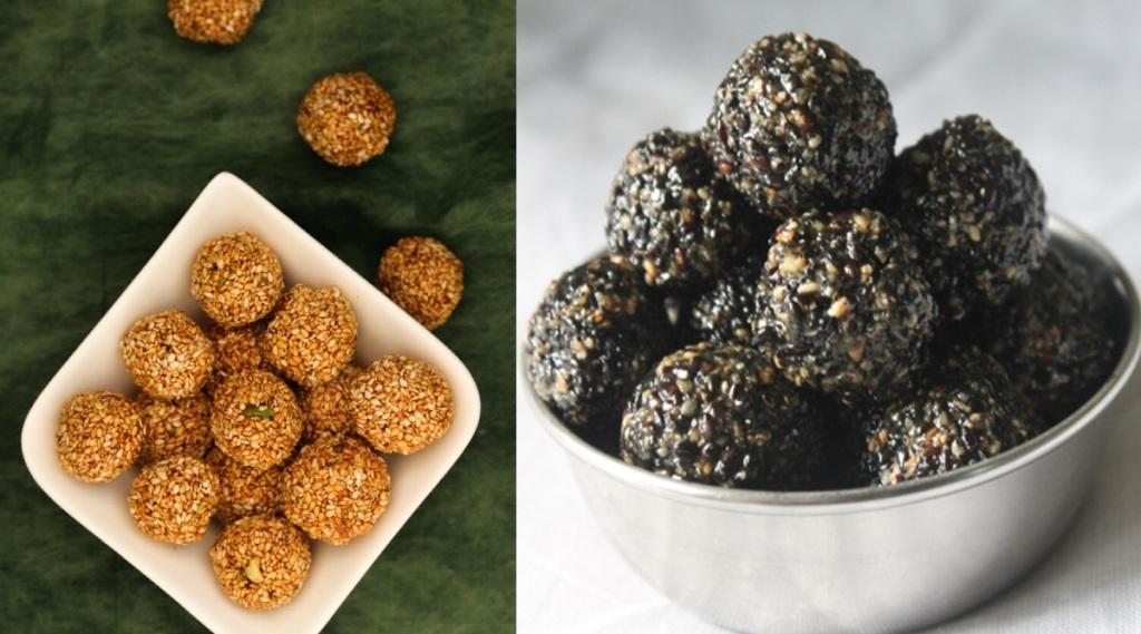 Healthy Sesame Balls in Tamil: karupatti ellu urundai making in tamil