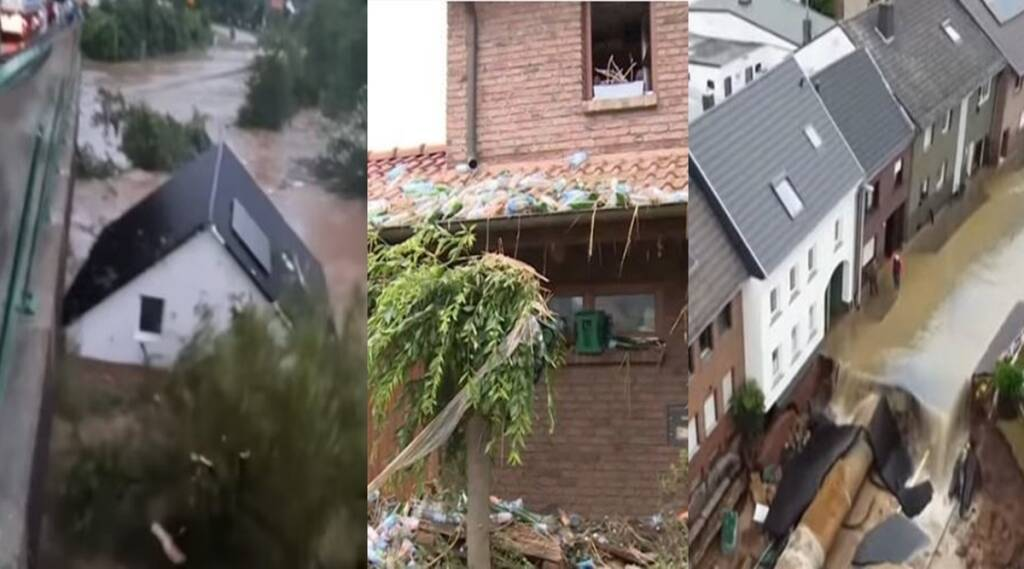 Trending viral video of Germany Flood and storm