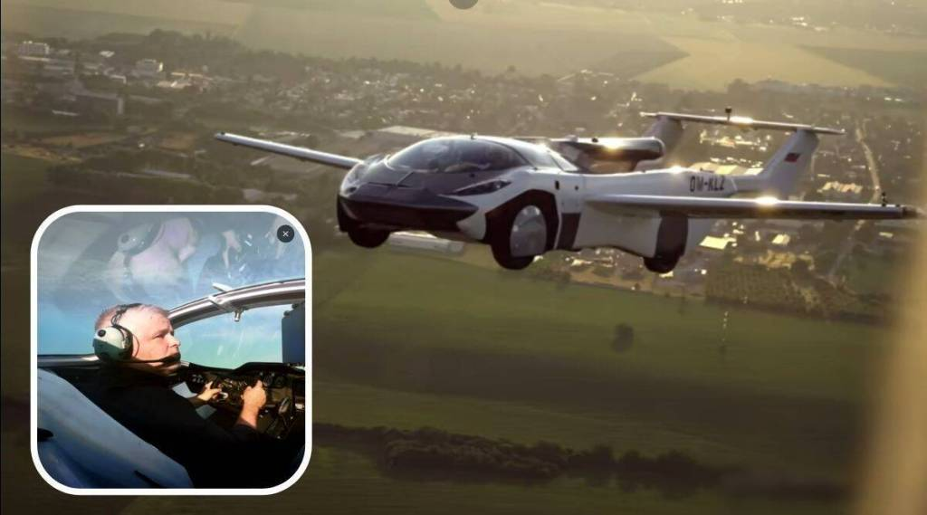 Flying car takes successful inter-city test run, netizens thrilled