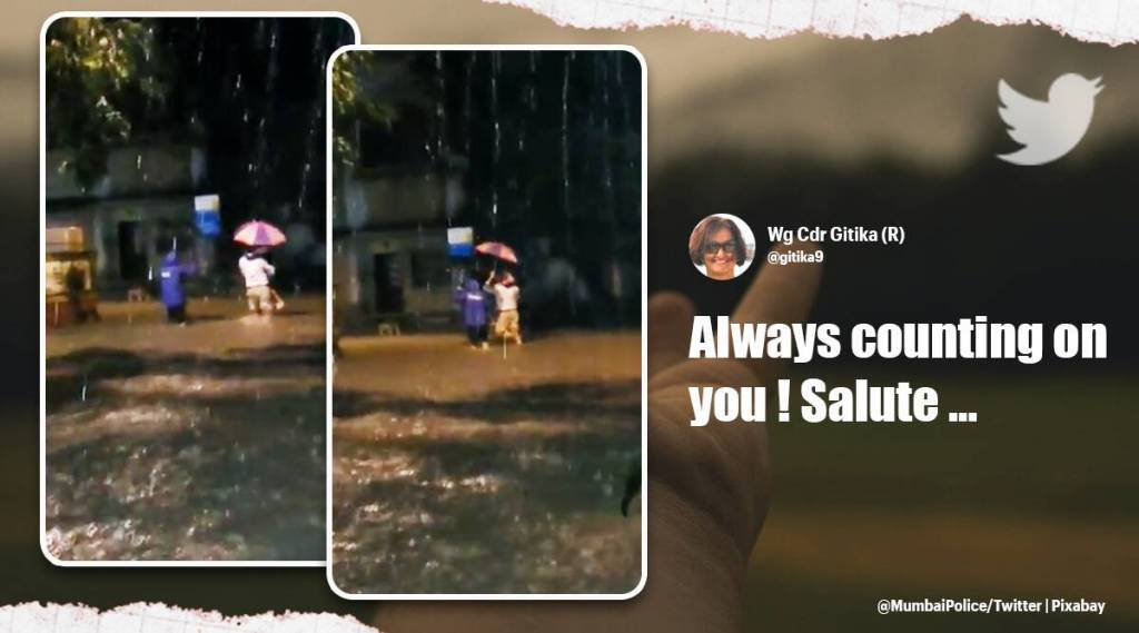 Tamil viral news trending video of mumbai cop