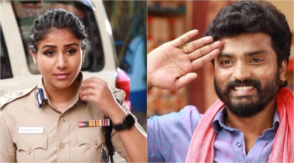 Raja Rani 2, Raja Rani 2 Serial, Vijay TV, Raja Rani 2 serial today episode, Sandhya became IPS police officer, her husband Saravanan salutes, sandhya dreams as ips officer, ராஜா ராணி 2, ராஜா ராணி 2 சீரியல், ஐபிஎஸ் ஆன சந்தியா, சல்யூட் அடித்த சரவண, அர்ச்சனா, பார்வதி, சந்தியா, சரவண, சிவகாமி, சுந்தரம், Raja Rani 2 serial today story, sandhya, saravanan, parvathy, archana, sivagami, Vijay TV Serials