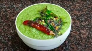 Chutney recipes in tamil: simple steps to make Peanut Mint chutney in tamil