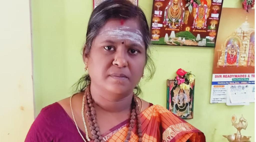 Angayarkanni, first female odhuvar, trichy,