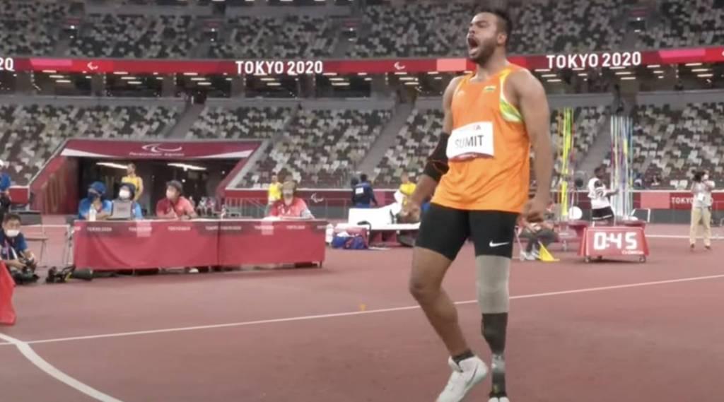 Tokyo Paralympics, Sumit Antil wins gold, Sumit Antil breaks world record thrice, சுமித் அன்டில் தங்க பதக்கம் வென்றார், சுமித் அன்டில், ஈட்டி எறிதலில் தங்க பதக்கம், டோக்கியோ பாரலிம்பிக்ஸ், சுமித் அன்டில் உலக சாதனை, india, tokyo paralympics javelin throws, javelin throws, Sumit Antil wins gold medal