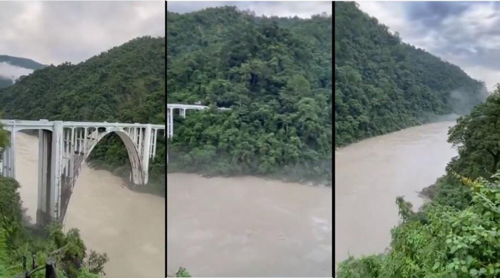 Viral video, trending viral video of teesta river, river teesta