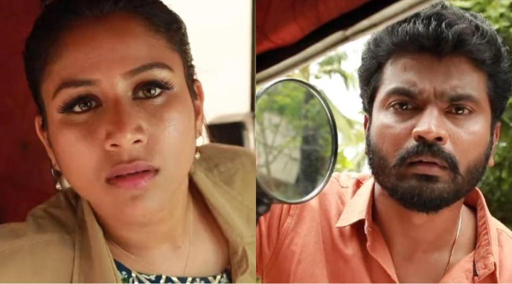 Raja Rani 2 serial, Raja Rani 2 serial today episode, Raja Rani 2 serial story updates, alya manasa, sidhu, ராஜா ராணி 2 சிரியல், சரவணன், சந்தியா, ஆல்யா மானசா, சித்து, பாட்ஷா, vaishnavi sundaram, saivam ravi, parveena, vj archana, raja rani 2 sandhya sravanan love scene like baasha movie, raja rani serial