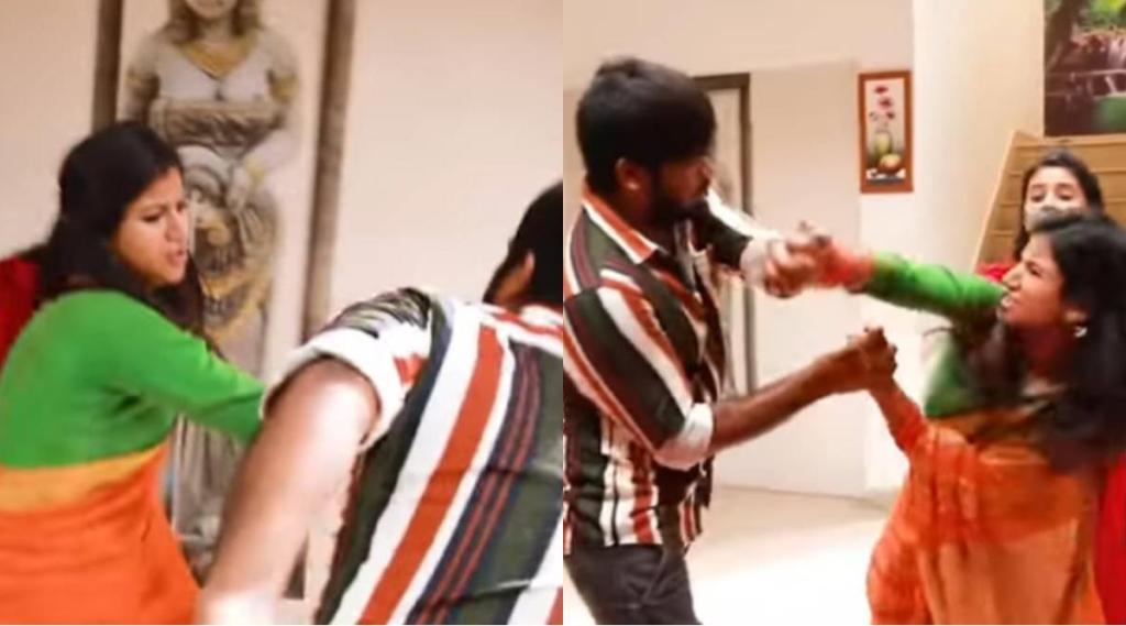 Raja Rani 2 Serial, vijay TV, Raja Rani 2 Seria today promo video, Alya Manasa, Sandhya saves Parvathy from boy friend, Sidhu, Praveena, Sivagami, Raja Rani 2 promo vidie, vira video, ராஜா ராணி 2 சீரியல், ராஜா ராணி 2 சீரியல் புரோமோ வீடியோ, பார்வதியை அதிரடியாக காப்பாற்றிய சந்தியா, ஆல்யா மானசா, சித்து, சரவணன், vijay TV Raja Rani 2 Serial, Tamil TV Serial news, raja rani updates