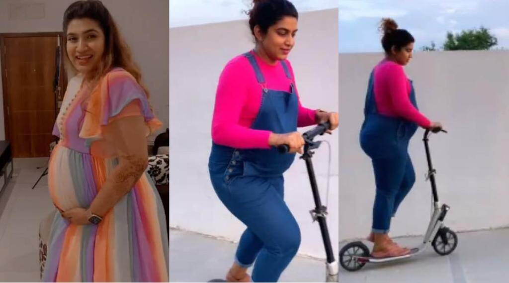 Sameera Sherif, actress Sameera Sherif, Sameera Sherif scatting, Sameera Sherif pregnant, சீரியல் நடிகை சமீரா ஷெரீஃப், கர்ப்பமாக இருக்கிற சமீரா ஷெரீஃப், சமீரா ஷெரீஃப் ஸ்கேட்டிங், நெட்டிசன்கள் ட்ரோல், Sameera Sherif scatting video, Netizens trolls Sameera Sherif, Pregnancy not illness