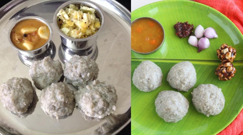 kambu recipe in tamil: steps to make Kambu koozh, Kambu Kali, Pearl Millet balls in tamil
