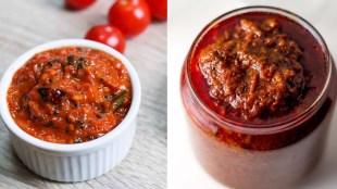 Tomato recipes in tamil: Poondu Thakkali Thokku making in tamil