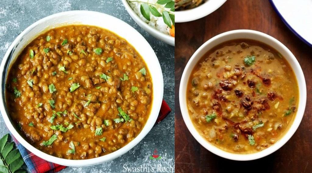 green gram recipes in tamil: pachai payaru gravy.