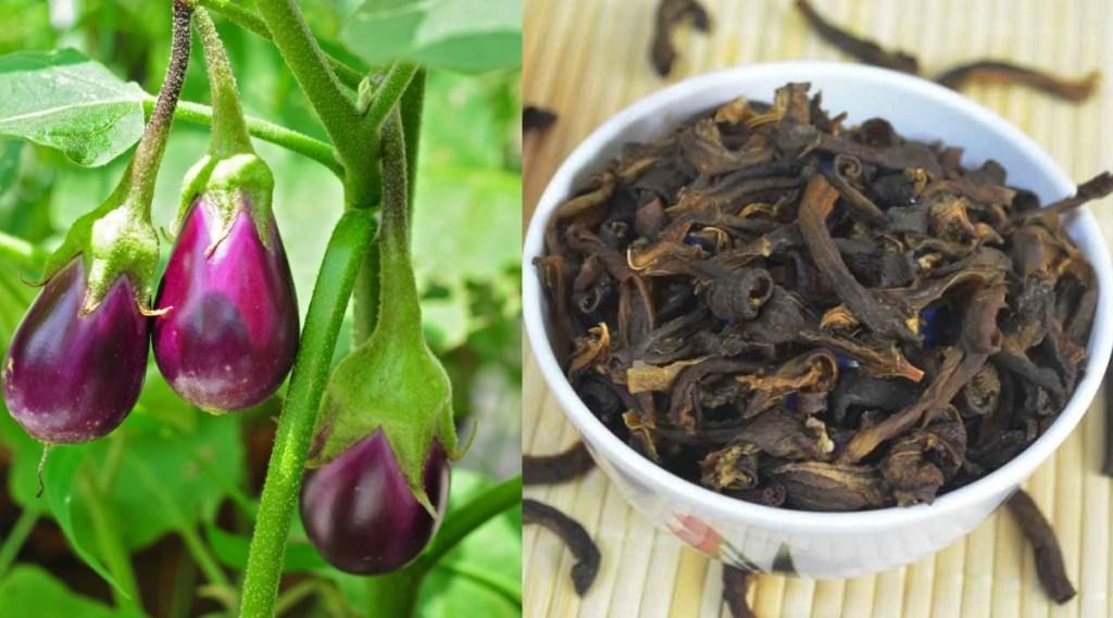 Brinjal recipes in tamil: Sun Dried Brinjal Vathal Recipe in Tamil