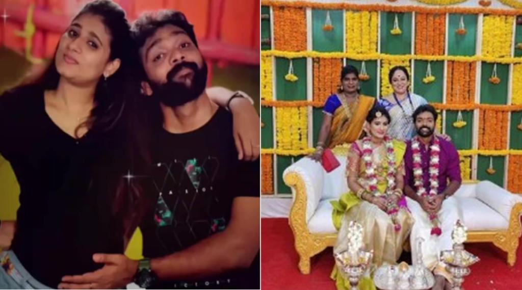 Vijay TV actor Vinoth Babu, actor Vinoth Babu dance with Nisha, actor Vinoth Babu dance in his wife baby shower function, விஜய் டிவி, விஜய் டிவி நடிகர் வினோத் பாபு, நடிகர் வினோத் பாபு மனைவியின் வளைகாப்பு விழாவில் மாஸ் டான்ஸ், Sundari neeyum sundaran naanum serial, thendral vanthu enna thodum, vijay tv serial actor dance