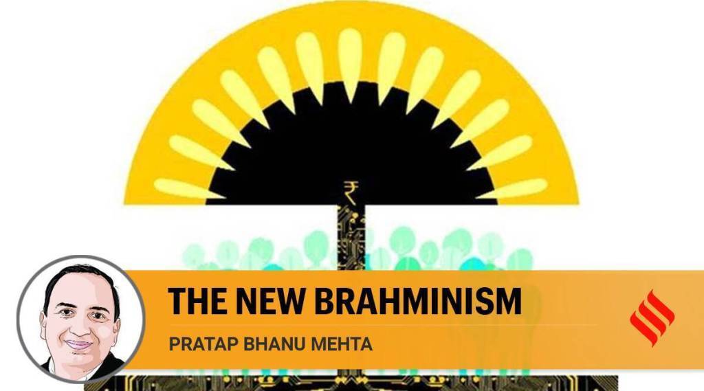 little farce of Brahmin welfare schemes, Pratap Bhanu Mehta, பிராமணர்கள் நலத்திட்டம், பிராமணியம், சமூகநீதி, பிரதாப் பானு மேத்தா, social justice, the new brahminism, caste politics