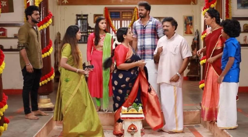 Vijay TV Raja Rani 2 serial, Raja Rani 2 serial today episode, what happens to sandhya and saravanan, family gets tension, விஜய் டிவி, ராஜா ராணி 2 சீரியல், சரவணன் சந்தியாவுக்கு என்ன ஆச்சு, பதற்றத்தில் குடும்பத்தினர், ஆல்யா மானாசா, சித்து, Tamil serial news, raja rani 2, alya manasa, sidhu, praveena, saivam ravi sundaram, raja rani 2 latest news