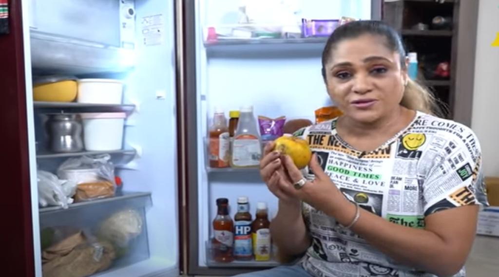 Cook with Comali Uma Riyaz Mini Fridge Tour Tamil News