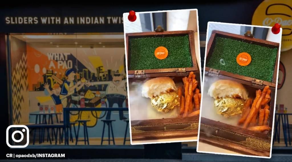 Golden vadapav, gold, trending news, viral news