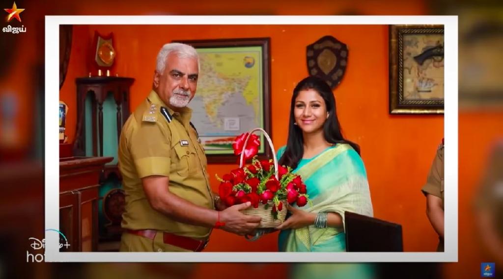 raja rani 2 Tamil News: sandhya meets commissioner in vijaytv's raja rani