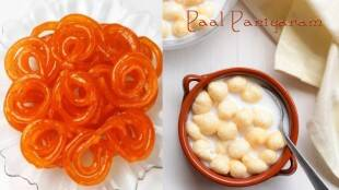 south indian recipes in tamil: how to make jalebi and Paal paniyaram with idli batter in tamil