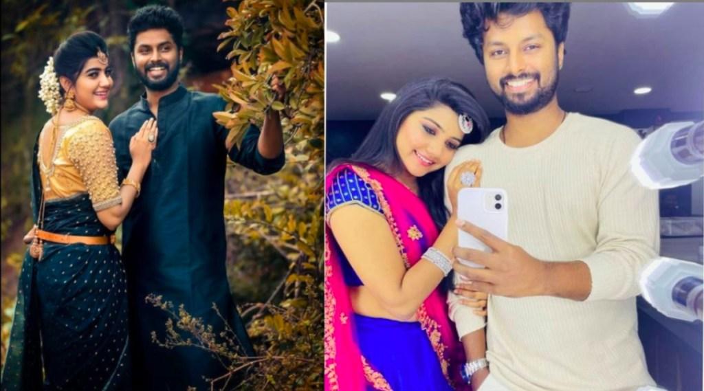 actress abinavya Tamil News: Serial Actor Deepak and Abinavya Engagement viral video