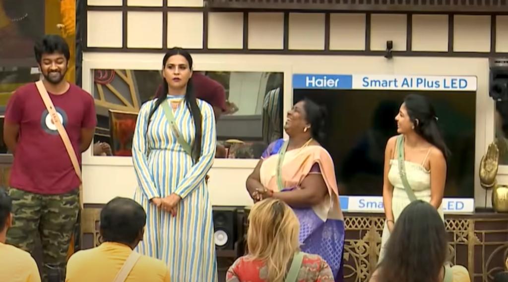 Bigg Boss 5 Tamil Day 1 Review Raju Priyanka Akshara Thamarai Tamil news