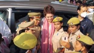 Congress leader priyanka gandhi, priyanka gandhi stopped UP police, போலீஸ் காவலில் இறந்தவரின் குடும்பத்தை சந்திக்க சென்ற பிரியங்கா காந்தி தடுத்து நிறுத்தம் உத்தரப் பிரதேசம், உபி காவல்துறை, Uttar Pradesh, congress, dalit youth custody death