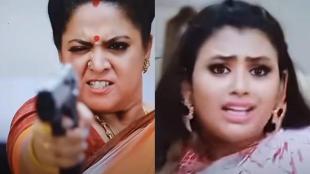 Barathi Kannamma Serial, barathi kannamma, vijay tv, Soundarya shoots Venba, barathi kannamma latest promo, barathi kannamma thrilling twist, பாரதி கண்ணம்மா சீரியல், வெண்பாவை துப்பாக்கியால் சுடும் சௌந்தர்யா, vijay tv barahthi kannamma, tamil tv serial news