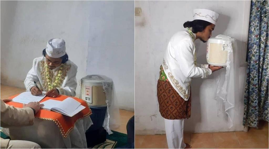 Man marries rice cooker, trending news, viral news,